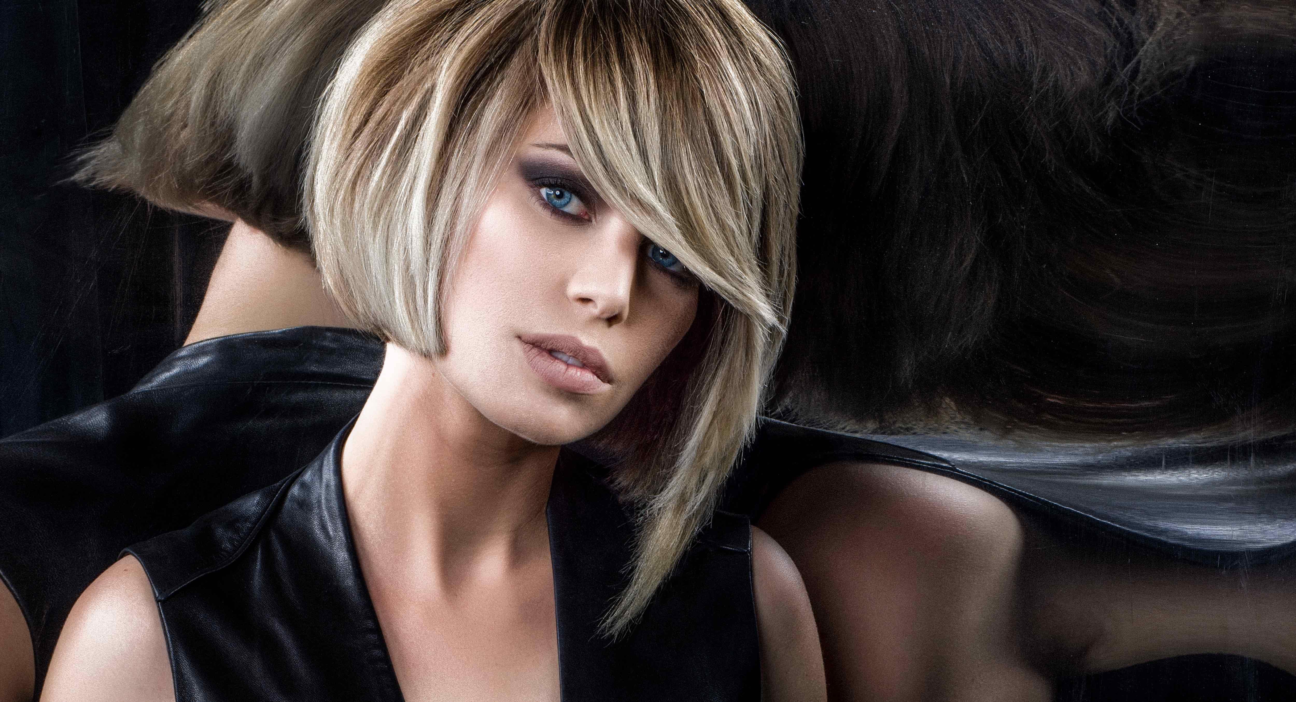 Tendance Carre Plongeant Court Effile Degrade Avec Frange | Coiffures Cheveux Longs