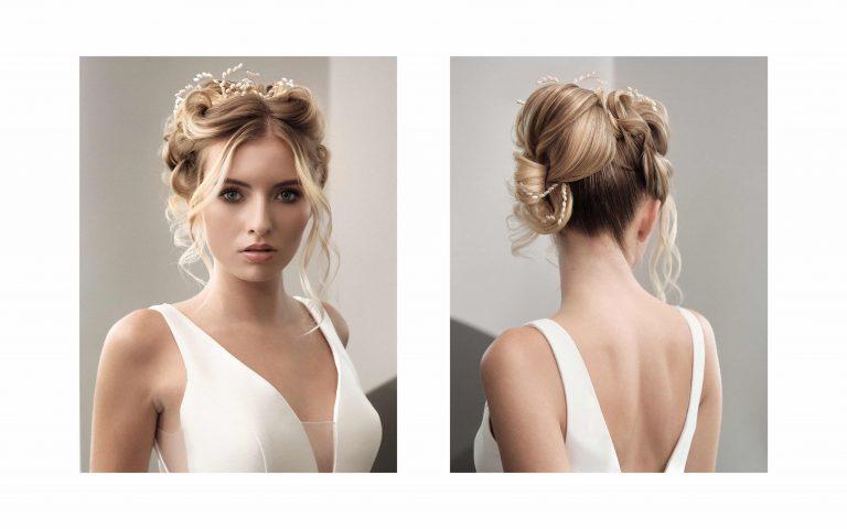 Une coiffure de mariée chic et unique pour une allure de vestale le jour de son mariage.